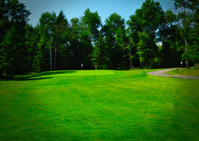 lush manicured golf green in Sudbury
