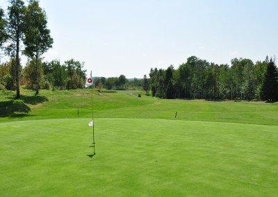 Out on the golf green at Forest Ridge Golf in Sudbury